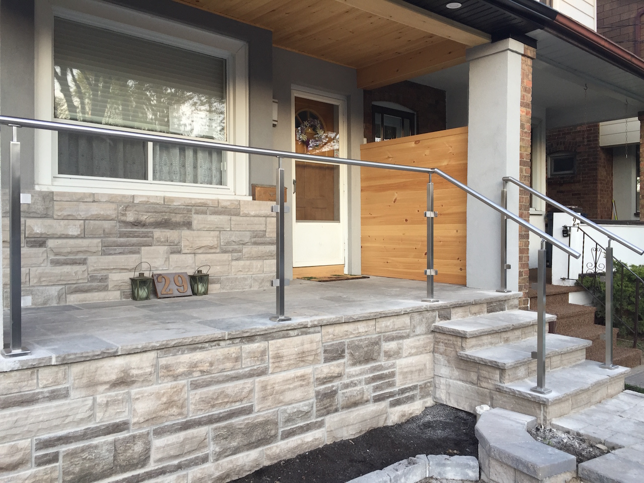 Gallery Exterior Glass Stainless Steel Railings